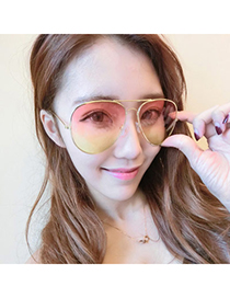 Define Multicolor Thin Frame & Legs Simple Design Resin Women Sunglasses