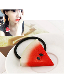Premier Red Watermelon Shape Decorated Simple Design Rubber Hair Band Hair Hoop