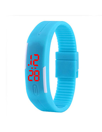 Mint Blue Pure Color Creative Simple Design Silicone Ladies Watches