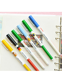 fresh Random Color Cartoon Pattern Simple Design Plastic Writing Pens