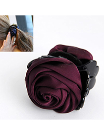 Elegant Purple Rose Shape Decorated Simple Design