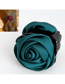 Elegant Dark Green Rose Shape Decorated Simple Design