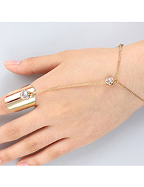 Popular Gold Color Diamond Decorated Simple Design