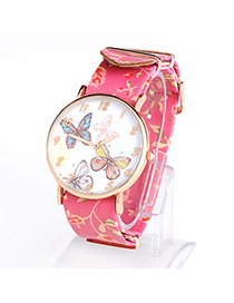 Brilliant Plum Red Butterfly Pattern Simple Design