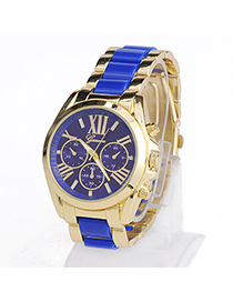 High-quality Blue Roman Numerals Pattern Simple Design