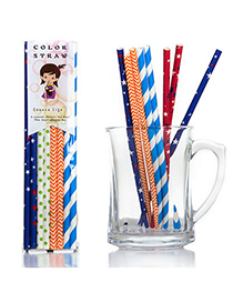 Cute Random Color Multicolor Straw Eight Pcs Design Paper Household Goods
