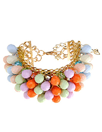 Joker Multicolor Beads Decorated Multilayer Design