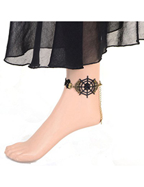 Detachable black steering wheel decorated design alloy Fashion Anklets