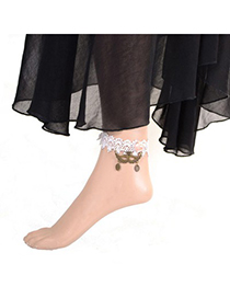 Sparrow black mustache decorated lace design alloy Fashion Anklets