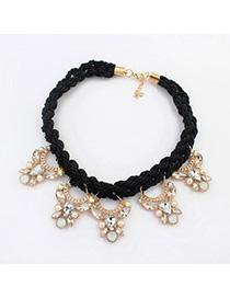 Lightest black diamond decorated butterfly shape design