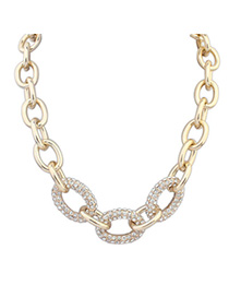 Mobile Gold Color Diamond Decorated Chain Shape Design Alloy Chains