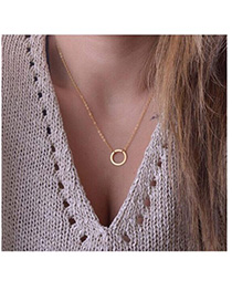 Hemp Gold Color Round Shape Decorated Simple Design Alloy Chains