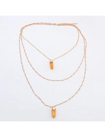 personalized Orange Bullet Shape Pendant Decorated Multilayer Design Alloy Pendants