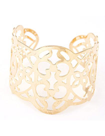 Joker Gold Color Flower Decorated Hollow Out Design