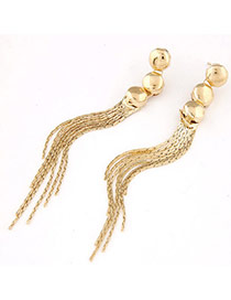 Contracted Gold Color Round Shape Decorated Tassel Design