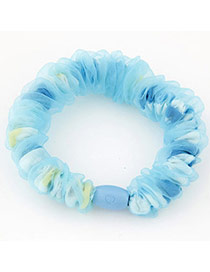 Sweet Blue Lace Decorated Simple Design Rubber Band Hair Band Hair Hoop
