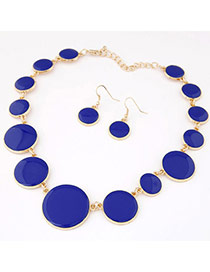 Joker Sapphire Blue Gemstone Decorated Round Shape Design
