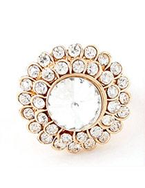 Fashion Gold Color Letter Love Decorated Pure Color Simple Bracelet(6pcs)