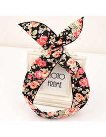 Sweet Black Flower Pattern Simple Design Fabric Hair band hair hoop