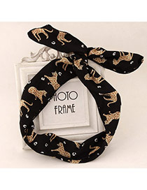 Cute Black & Yellow Animal Pattern Simple Design Fabric Hair band hair hoop