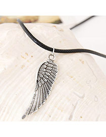 Lucky Gun Black Wing Shape Simple Design Alloy Pendants