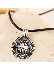 Concise Gun Black Round Shape Pendant Decorated Simple Design Alloy Pendants