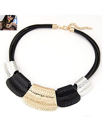 Concise Black Geometry Shape Decorated Multilayer Design