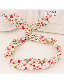 Sweet White Flower Pattern Simple Design  Fabric Hair band hair hoop