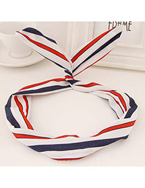 Sweet Blue&red&white Stripe Pattern Simple Design