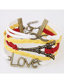 Retro Multicolor Metal Eiffel Tower Shape Decorated Multilayer Design