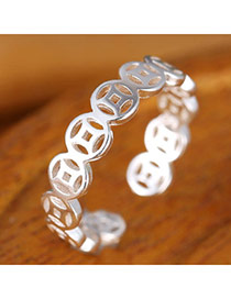 Sweet Silver Color Hollow Out Simple Design  Alloy Korean Rings
