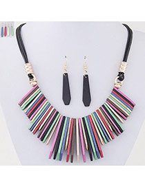 Temperament Multi-color Vertical Bar Pendant Decorated Simple Design