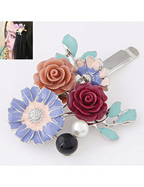 Bohemia Light Purple Rose Decorated Simple Design  Alloy Hair band hair hoop