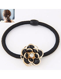 Fashion Black Flower Decorated Simple Design  Alloy Hair band hair hoop