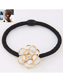 Fashion White Flower Decorated Simple Design  Alloy Hair band hair hoop