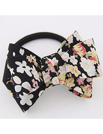 Sweet Black Big Bowknot Decorated Simple Design Rubber Hair band hair hoop