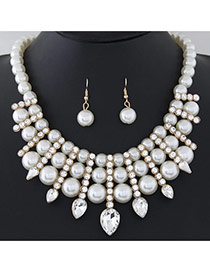Fashion White Pearl Weave Decorated Simple Design