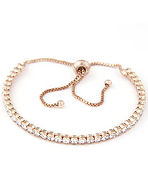 Sweet Champagne Diamond Decorated Tassel Design  Alloy Fashion Bangles