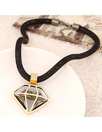 Fashion Gold Color Hollow Out Triangle Pendant Decorated Simple Design