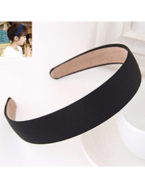 Fashion Black Pure Color Simple Design  Fabric Hair band hair hoop