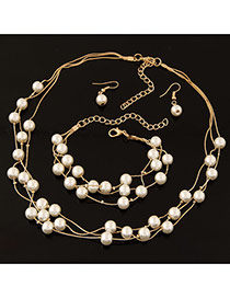 Sweet White Pearl Decorated Multilayer Design