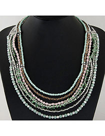 Sweet Multicolor Beads Decorated Multilayer Design