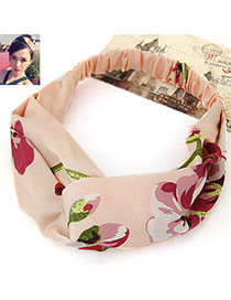Fashion Apricot Flower Pattern Decorated Wide Design