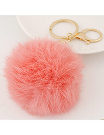 Fashion Watermelon Red Fur Ball Pendant Decorated Simple Design Alloy Fashion Keychain