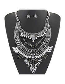 Luxury Gray Diamond Decorated Mutlilayer Design