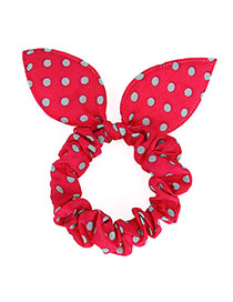 Cute Red Dot Patttern Bowknot Shape Design Rubber Band Hair Band Hair Hoop