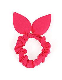 Pretty Plum Red Pure Color Bowknot Shape Design