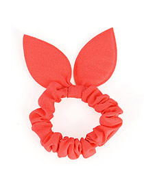 Pretty Watermelon Red Pure Color Bowknot Shape Design Rubber Band Hair Band Hair Hoop