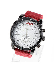 Creative Red Dial Plate Shape Simple Design
