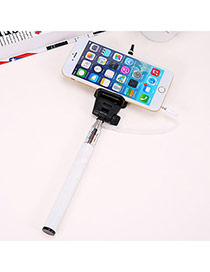 Multifunctional White Self-timer Simple Design Stainless Steel Phone Holder